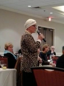 Maggie speaking